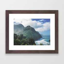 Na Pali Coast Kauai Hawaii Framed Art Print