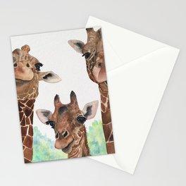 Giraffe's Family Portrait by Maureen Donovan Stationery Cards