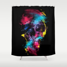 Skull - Space Shower Curtain