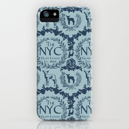 NYC Glam League Crest No. 3 in Robin's Egg Blue iPhone Case