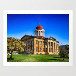 Old Illinois Capitol Building Art Print