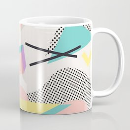80s / 90s RETRO ABSTRACT PASTEL SHAPE PATTERN Coffee Mug