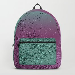 Mermaid Lady Glitter Heart #1 #shiny #decor #art #society6 Backpack