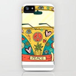 Hippie Bus Peace iPhone Case