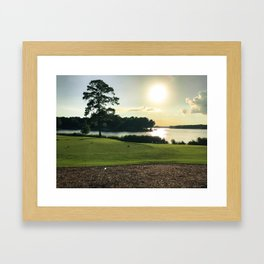 Sunset View from the Course Framed Art Print