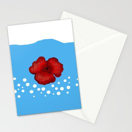 Coquelicot et ciel bis Stationery Cards