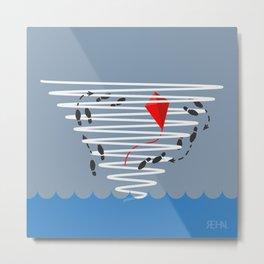 Kite Dancing in a Hurricane  Metal Print