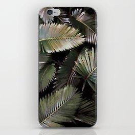Dark Palm Leaves iPhone Skin