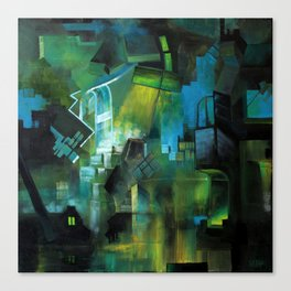Things to Remember During a Flood - Abstract cityscape Canvas Print