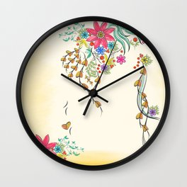 Vibrant Floral to Floral Wall Clock