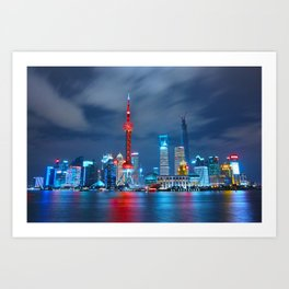 Shangai, China Art Print