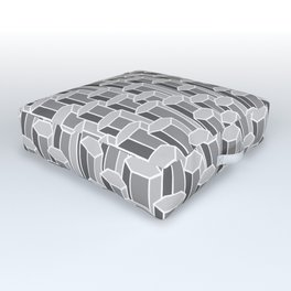 Hexagonal Columns in Grey Outdoor Floor Cushion