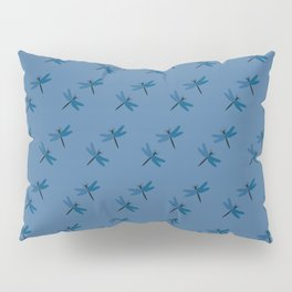 Dragonflies on blue Pillow Sham
