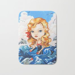 SWIMMING WITH DOLPHINS Bath Mat
