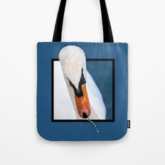 Swan with 3D pop out of frame effect Tote Bag