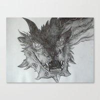 smaug Canvas Prints featuring Smaug by Jess5_11