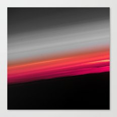 Pink Melon Gray Ombre Canvas Print