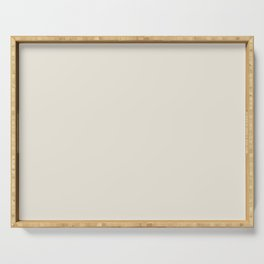 Creme Brulee Creme - Off White Neutral Solid Color Parable to Valspar Foggy Skies 7002-4 Serving Tray