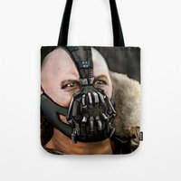 bane Tote Bags featuring Bane by Spiro 1230