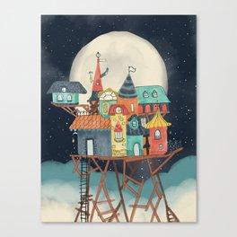 Imaginary house on stilts Canvas Print