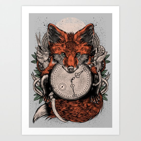 Chaos Fox Art Print