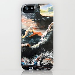 Chicago Bean At Edge Of Storm iPhone Case