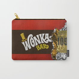 wonka chocolate bar with golden ticket iPhone 4 5 6 7 8, tshirt, mugs and pillow case Carry-All Pouch