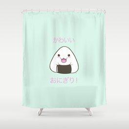 Cute Onigiri Kawaii ^.~ Shower Curtain
