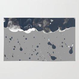 Inky Oil Cloud of Radiation Rug