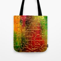 labyrinth Tote Bags featuring Labyrinth by Chicca Besso