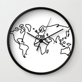 world globe Wall Clock