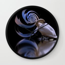 the lost swan Wall Clock