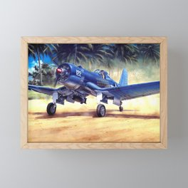 F4U Corsair Framed Mini Art Print