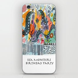 Sea Monster Birthday Party iPhone Skin