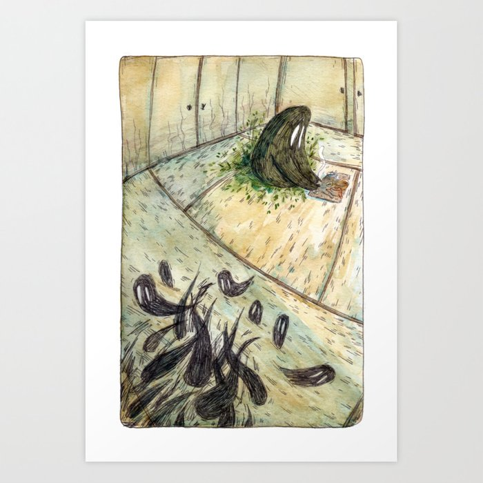 Kettle and the Garden Monsters - Parsley Merlin and Beatrice Page Art Print