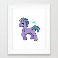 mlp Framed Art Prints featuring MLP OC by AlexavierTaiga