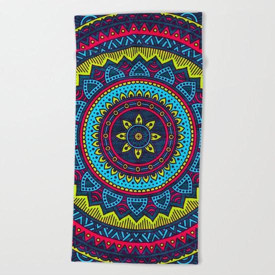 Hippie Mandala 24 Beach Towel