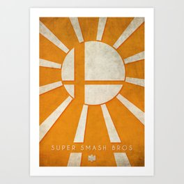 Super Smash Bros - Nintendo 64 Minimalist Art Print