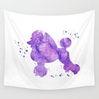 poodle Wall Tapestries featuring Poodle by Carma Zoe
