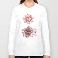 blush Long Sleeve T-shirts featuring First Blush by Miranda Montes