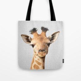 Baby Giraffe - Colorful Tote Bag