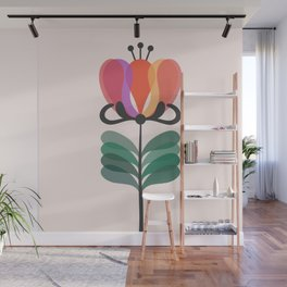Retro flower Wall Mural
