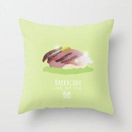 Barracuda Sushi Throw Pillow