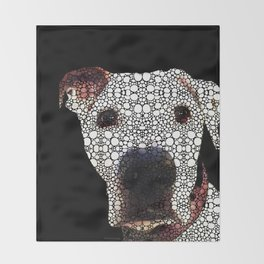 Stone Rock'd Dog 2 by Sharon Cummings Throw Blanket