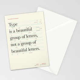 Typography Anatomy Stationery Cards