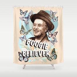 Mark Boogie Believer Shower Curtain