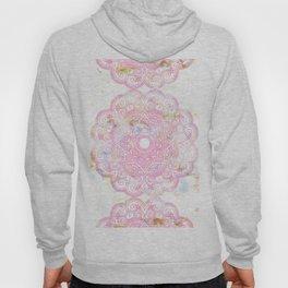 Pastel pink mandala ornament design Hoody