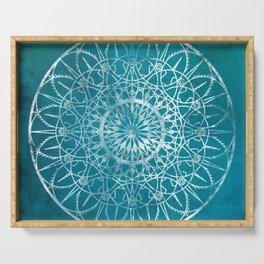 Fire Blossom - Teal Serving Tray