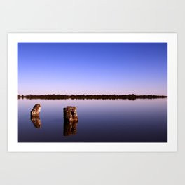 All Quiet on Lake Bonney Art Print