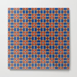 Moroccan Tile 2A - Red Metal Print